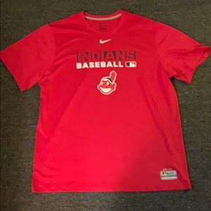 Nike Cleveland Indians baseball tee shirt